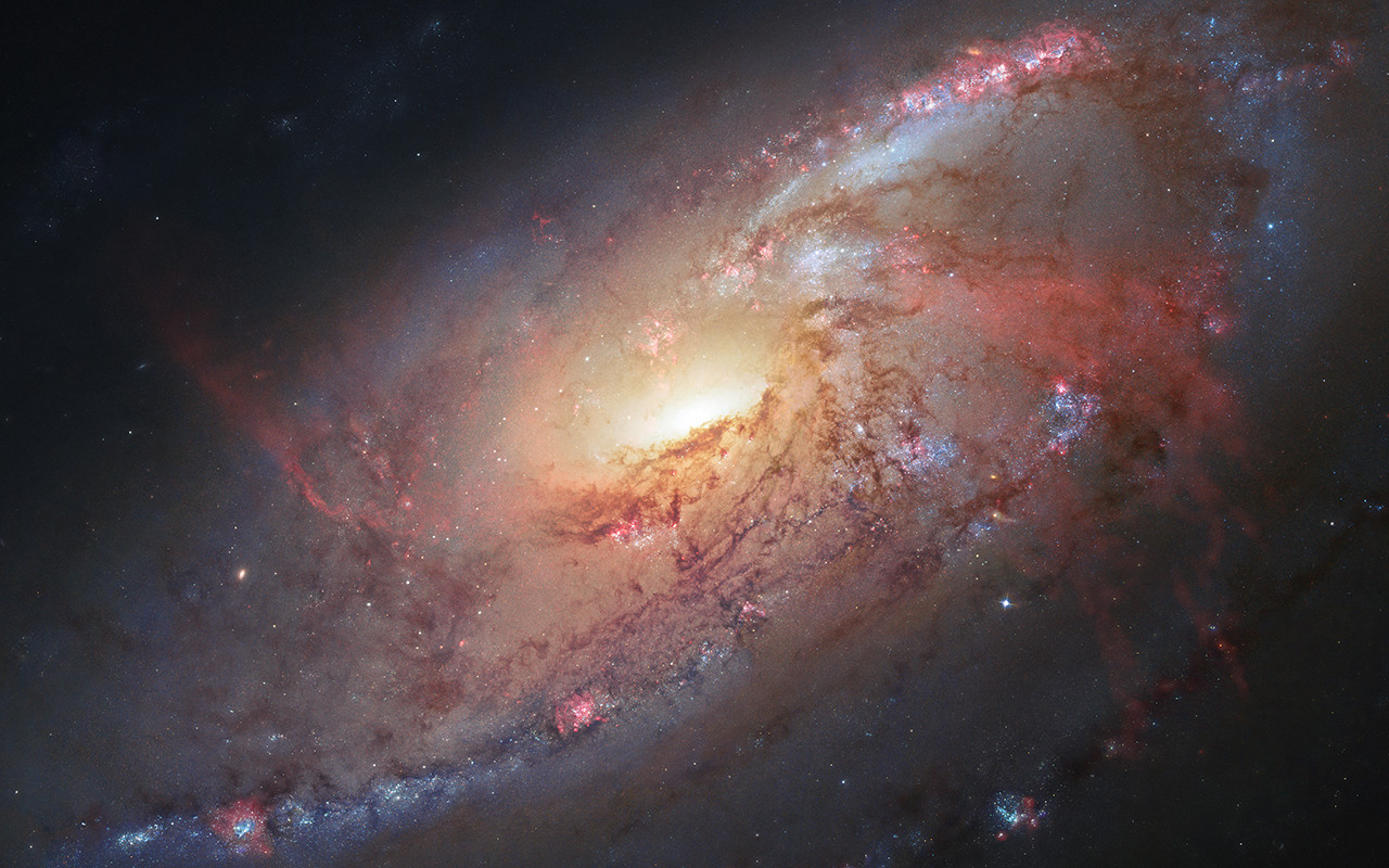 Image: Spiral Galaxy M106 captured by Hubble.