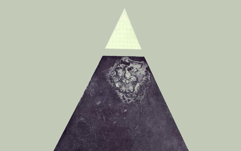 Image: Abstract art of a Pyramid.