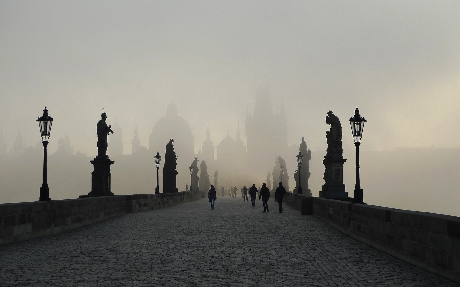 Prague: Charles Bridge in the Mist (Explored)